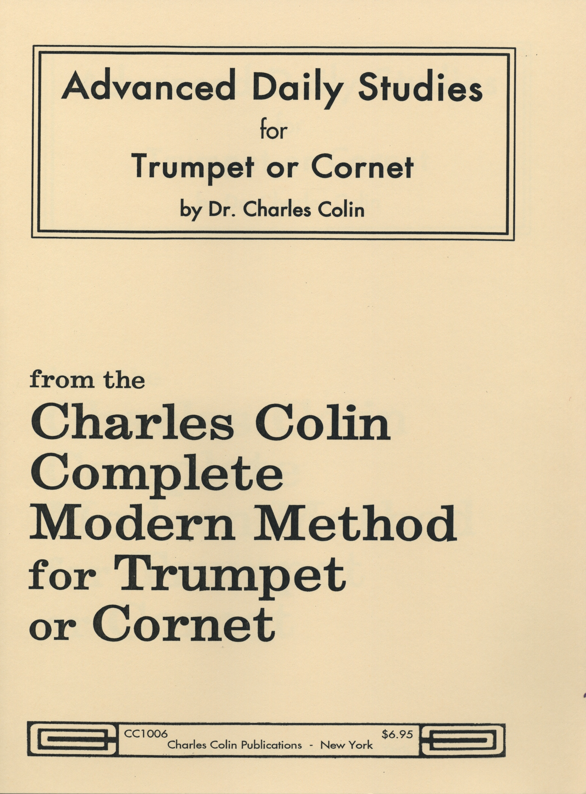 Charles Colin's Advanced Daily Studies