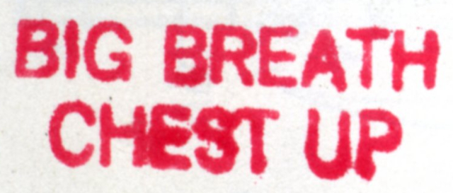 "Claude Gordon ""Big Breath Chest Up"" stamp"