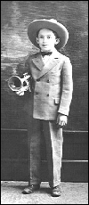 Claude Gordon with his beloved cornet, given to him by his father when he was five years old.