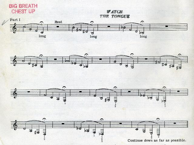 Claude Gordon Practice Routines (The Brass Herald, February