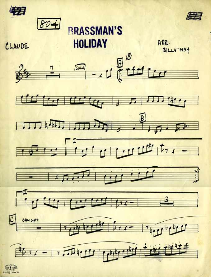 Claude Gordon Solo Brassman's Holiday by Billy May