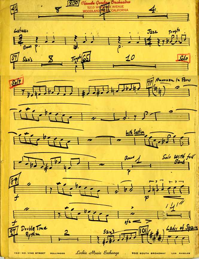 Claude Gordon playing trumpet on Fantasia arranged by Billy May - Page 2