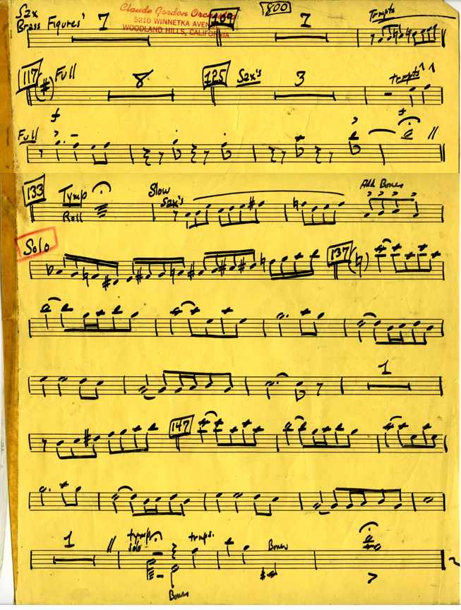 Claude Gordon playing trumpet on Fantasia arranged by Billy May - Page 3