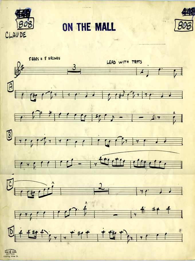 Claude Gordon Playing On The Mall arranged by Billy May - Page 1