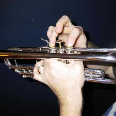 Correct Hand Position for Trumpet and Valved Brass - Firm Grip with Left Hand