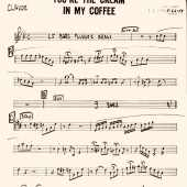 Claude Gordon Playing You're The Cream in My Coffee - Page 1